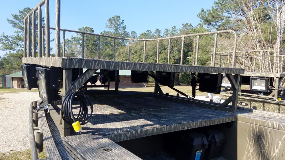 Bowfishing platform gator trax boats for Bow fishing platform