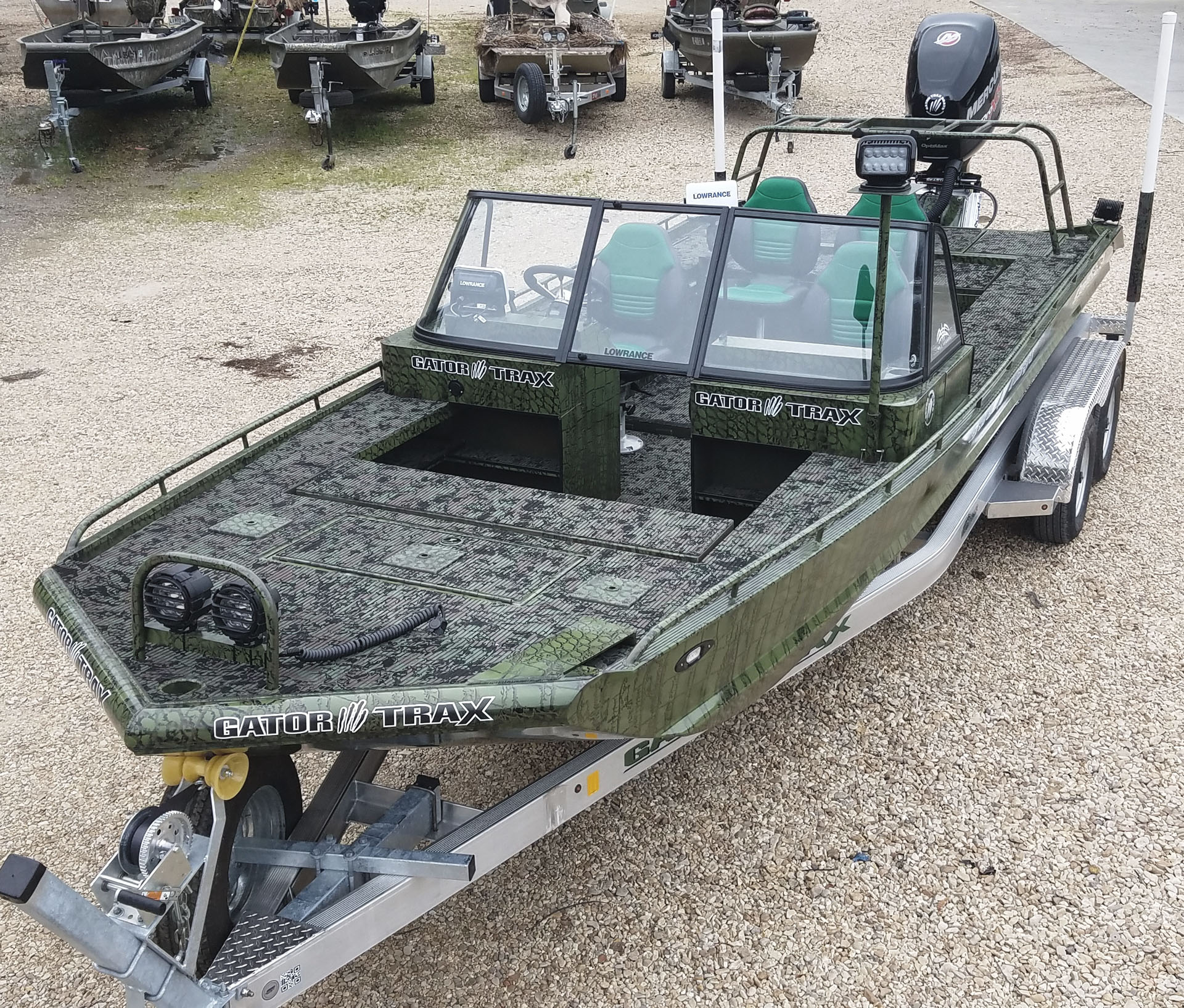 MudbuM Catfish Tournament Boat built by Gator Trax Boats